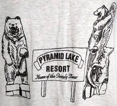 Pyramid Lake Resort Home of the Grizzly Bear Canada XL Mens Gray T-Shirt NWOT - $24.74