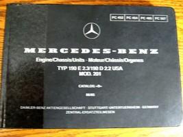 Mercedes-Benz Type W201 Parts Catalog Manual 190E 2.3 190D 2.2 1984 - 19... - $78.71