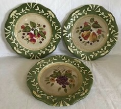 Certified International La Toscana Set Of 3 Salad Plates Pamela Gladding... - $24.74
