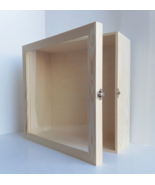 13x13 Extra Deep Large Wooden Shadow Box Picture Frame, Display Case, Me... - $79.00