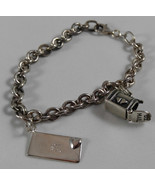.925 Sterling Silver Chain Bracelet w US Mailbox & Icecarats Love Letter... - $68.95