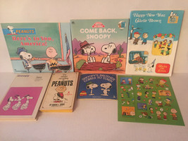Snoopy Peanuts Charlie Brown Book Lot of 6, Snoopys Brother Comes To Town - $15.87