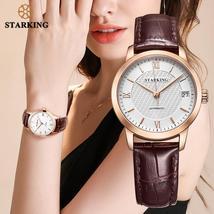 STARKING Fashion Watches Women Vintage Leather Luxury Watch Ladies Stainless Ste - $99.12