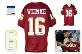 Chris Weinke Autographed SIGNED Jersey - PSA/DNA Authentic - Burgundy - $98.99
