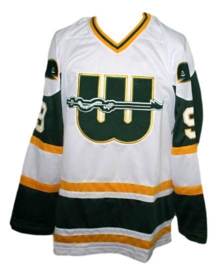 Gordie howe  9 new england whalers retro hockey jersey white   1