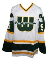 Any Name Number New England Whalers Wha Retro Hockey Jersey Howe White Any Size image 1