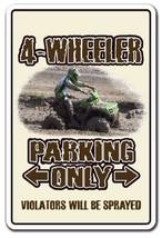 4-Wheeler Aluminum Sign ATV Four Wheeling 4x4 Quad Dirt 4-Wheel | Indoor... - $45.50