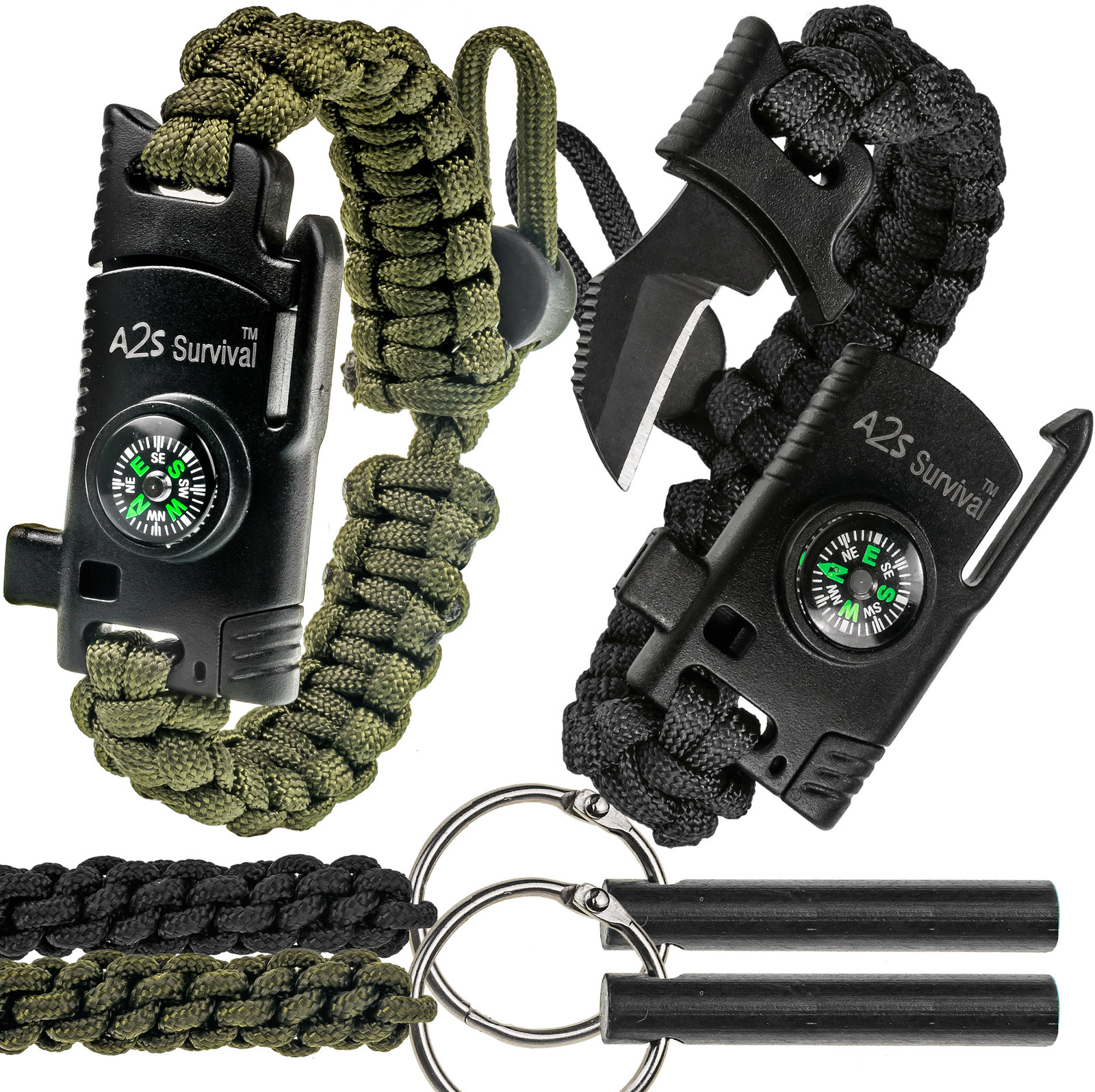 Paracord Keychains with Compass Receive 2