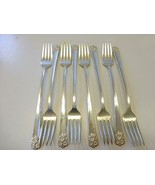 """8 APRIL Wiliam Rogers & Son Silverplate Grill Dinner Forks 7.75"""" Interna... - $29.69"""