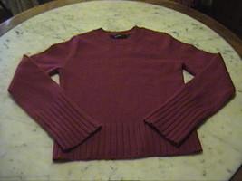 Red Wool Blend Jewel Neck Bell Sleeves Wool Blend Sweater  SWEATER      ... - $10.00