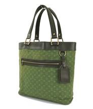 Auth LOUIS VUITTON Lucille GM Mini Lin GreenDenim Tote Hand Bag Purse #3... - $329.00