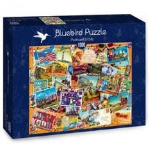 "NEW Bluebird Jigsaw Puzzle Game 1000 Pieces Tiles ""Postcard (USA)"" - $28.89"