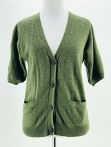 Talbots Women's Green Wool Blend Button-Down Cardigan Sweater Size Petite - $14.85