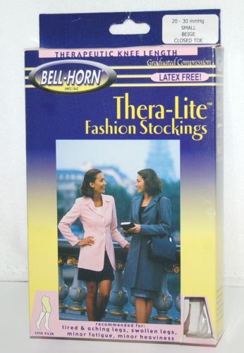 BellHorn 11932 TheraLite Compression Stockings Knee Length Beige Small