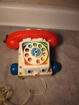 VINTAGE FISHER PRICE TELEPHONE PULL TOY -FREE SHIP--GC - $16.38