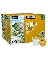 Kirkland Signature Medium Roast Keurig Organic Coffee K-Cup Pods 120 Cou... - $25.99