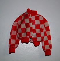 Mattel 1975 Barbie #7209 Red Checked Jacket - $9.41