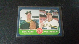 1986 Fleer Jose Canseco/Eric Plunk Major League Prospects RC - $4.99
