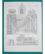 ARCHITECTURE in India Madura Tanchaur - 1828 Antique Print - $16.20