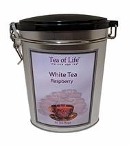Tea of Life Pure Ceylon White Tea Raspberry 50-ct Tin - $18.42