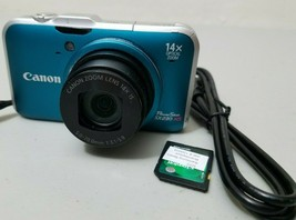 Canon PowerShot SX230 HS 12.1MP Digital Camera - Blue *GOOD/TeSTED* - $34.64