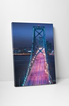 "Oakland Bridge Night Skyline Gallery Wrapped Canvas Print. 30""x20"" or 20... - $43.75+"