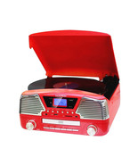 TechPlay 3 Speed Turntable, Programmable MP3 CD Player, USB/SD, Radio & ... - $111.33