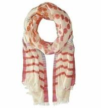 Echo Cotton Cha Cha Dots Stripes Wrap Scarf, Flamingo Pink - $18.81