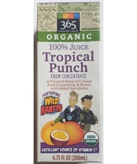 Wild Kratts Organic 100% Juice from Concentrate Tropical Punch Empty Box... - $3.00