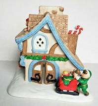 Santa's Workshop Tealight Candle House Holiday Village Christmas PartyLi... - $15.79