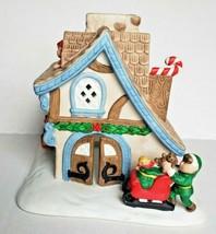 Santa's Workshop Tealight Candle House Holiday Village Christmas PartyLi... - $15.79