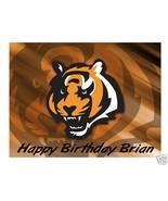 Cincinnati Bengals football edible cake image topper frosting party deco... - $8.98+