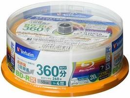 Verbatim Blu-ray Disc 20 Spindle - 50 GB 4X Speed BD-R DL - Printable - $41.49