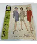 McCalls Vintage Sewing Pattern 8674 1960's Size 12-14 Bust 32-34 Suit Wo... - $9.75