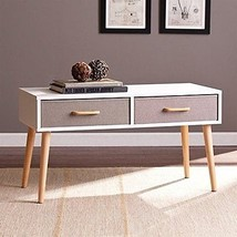 Southern Enterprises Maydell 2-drawer Storage Book Coffee Table in White... - $123.98