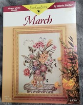 Just Cross Stitch Flower of the Month MARCH Counted Cross Pattern Marie ... - $13.56
