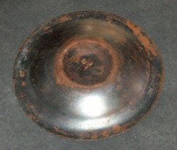 Israel Vintage Copper Bowl Tray Geometric Etched Mandala 1960's Signed Pal Bell image 4