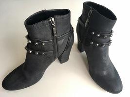 Simply Vera Wang Black Riveted Boots, Size 7.5 Medium - £25.04 GBP