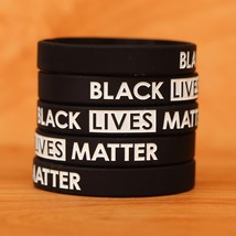 Set of BLACK Lives Matter Wristband Bracelets - New Silicone Wrist Bands... - $5.82+