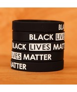 Set of BLACK Lives Matter Wristband Bracelets - New Silicone Wrist Bands... - £4.24 GBP+