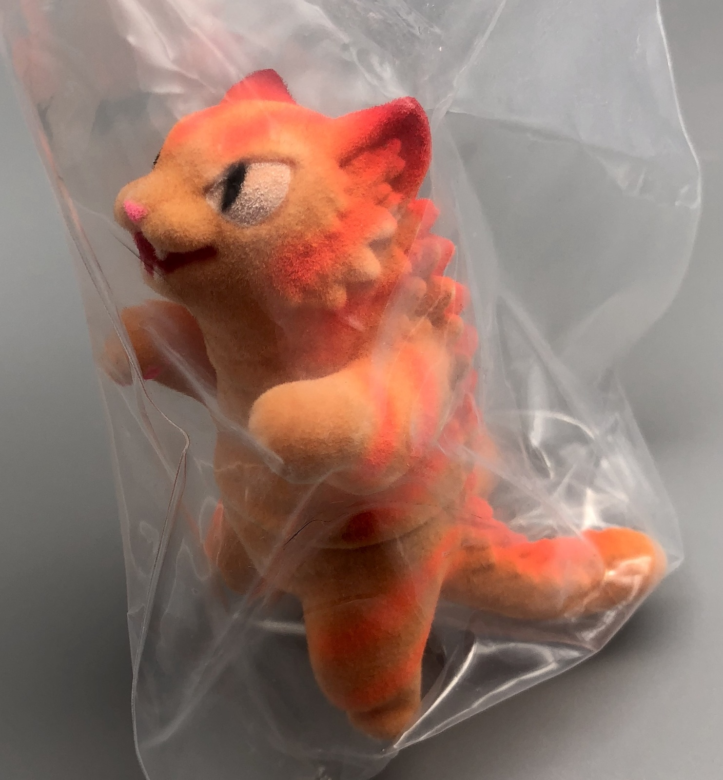 Max Toy Orange-Striped Flocked Negora Mint in Bag