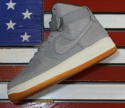 Nike Air Force 1 High Women's Premium Croc Skin Shoes Wolf Grey Gum [654... - $79.42