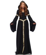 Pagan Witch Hooded Cloak with Gold Celtic Braid Trim Costume by Leg Avenue™ - $108.67 CAD