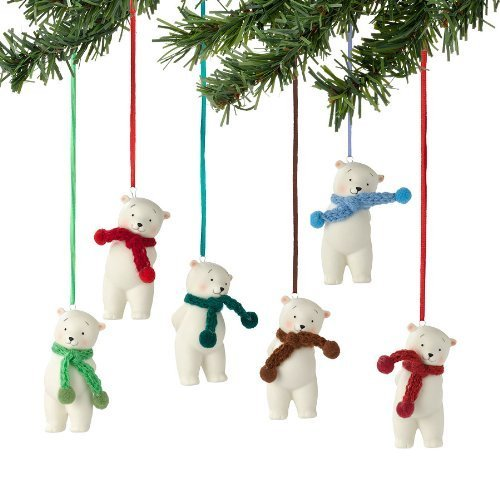 Department 56 Knit Wits Bear Ornament - 6 Assorted