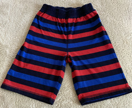 Gap Kids Boys Red Navy Blue Striped Pajama Shorts 8 - $8.33
