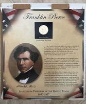 US Presidents Coin Collection PCS 1 Panel Handsome Frank Pierce Dollar 2... - $28.04