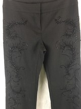 Express Black Size 30 X 32  Bead Embellished Wool Blend Dress Pants  - $19.75