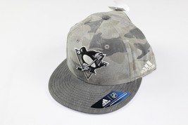 New Sample ADIDAS Pittsburgh Penguins Hockey 7 3/8 Fitted Camouflage Hat... - $24.70