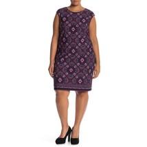 Vince Camuto Womens Pink Purple Sheath Dress Cap Sleeve Plus Sz 18W NWT - $69.29
