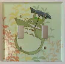 Totoro green Light Switch Outlet Toggle Rocker Wall Cover Plate Home decor image 5